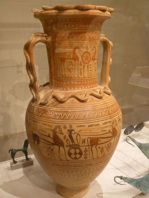 Terracotta Neck Amphora Greek Attic Geometric Fourth