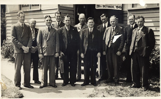 Bentleigh church of christ 1945 dad front row third from right