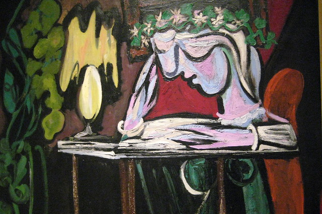 Pablo Picasso's Girl Reading at a Table