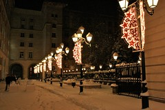 A cold evening in Central Sofia