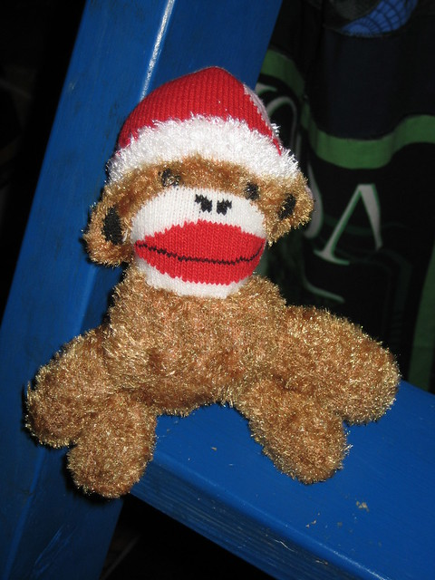 Baby Sock Monkey made by Nana!