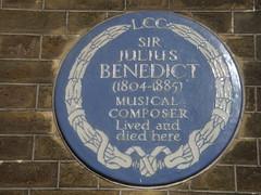 Photo of Julius Benedict blue plaque
