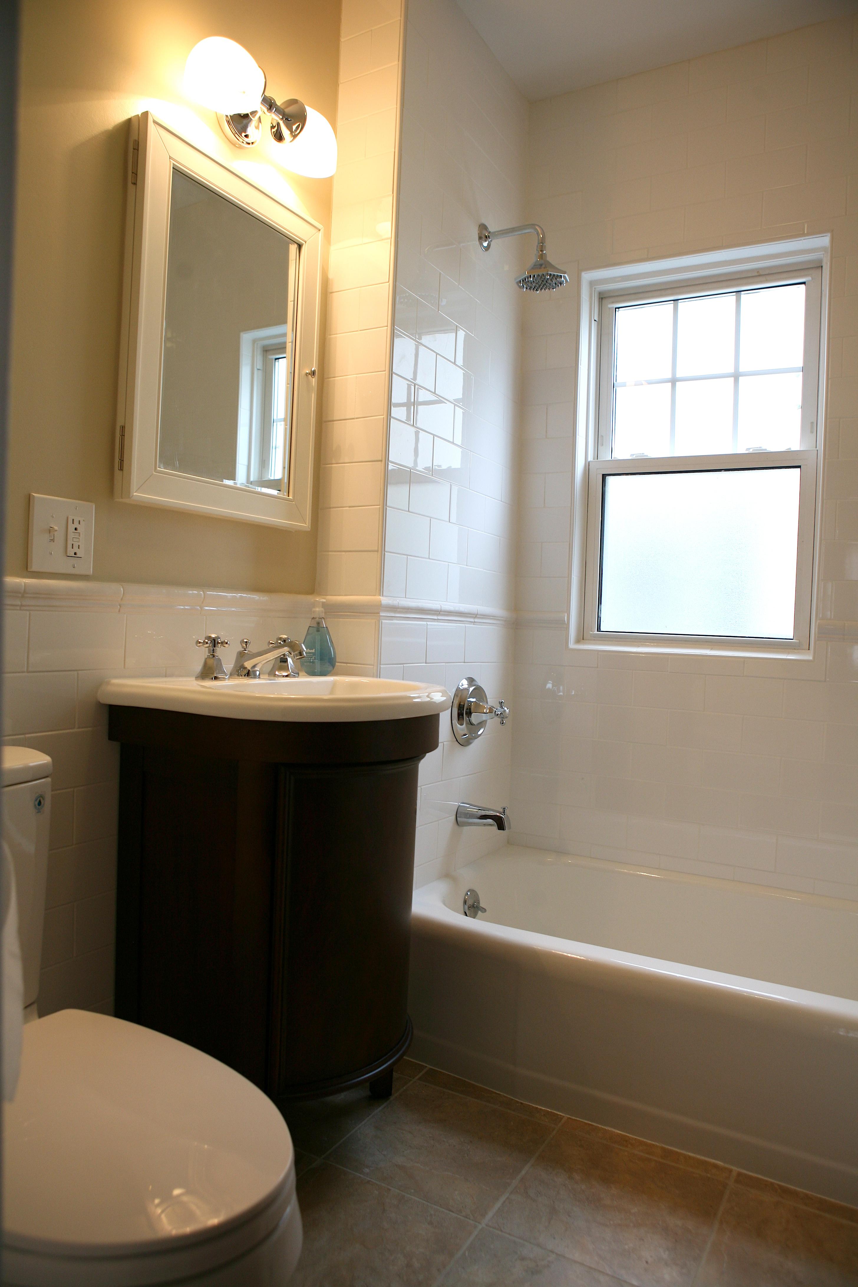 large subway tile bathroom joy studio design gallery. Black Bedroom Furniture Sets. Home Design Ideas