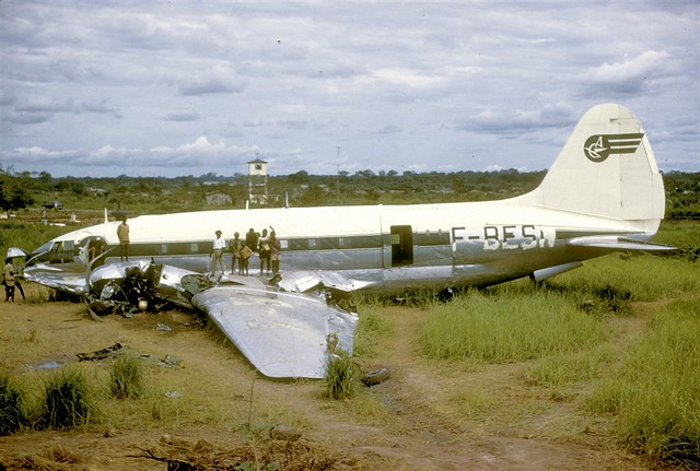 Air Cameroun, F-BESN, Curtiss C.46F-1.CU Commando, cn 22377, Bangui, 04/1961 (via Jacques Guillem)
