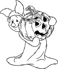 Halloween-Piglet-coloring-page