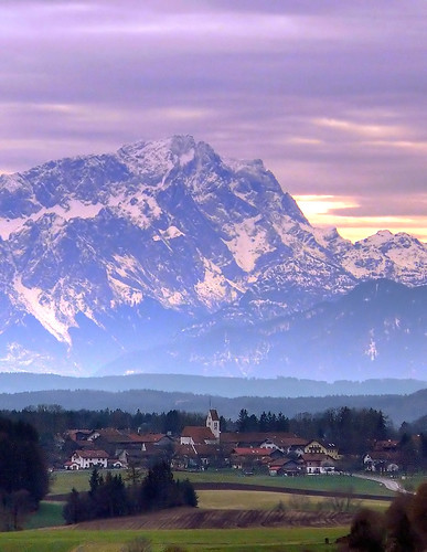 Zugspitze in Foehn Weather