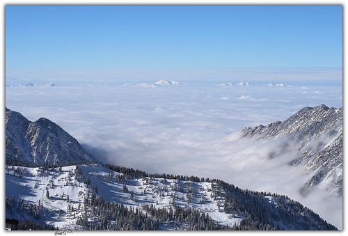 snow mountains clouds landscape snowboarding utah wasatch saltlakecity valley snowboading snowbird seaofclouds littlecottonwoodcanyon anawesomeshot