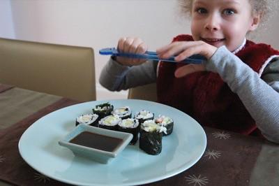 Sarah likes sushi