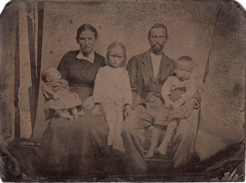 Tintype of the Moser Family; About 1893 (Photo offered by David C. Foster)