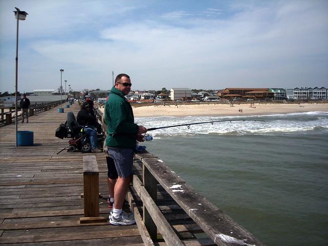 Cold fishing at kure beach pier flickr photo sharing for Kure beach pier fishing report