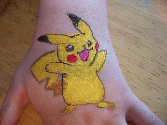 Pikachu Face Paint http://www.flickr.com/photos/59157011@N07/5741604241/