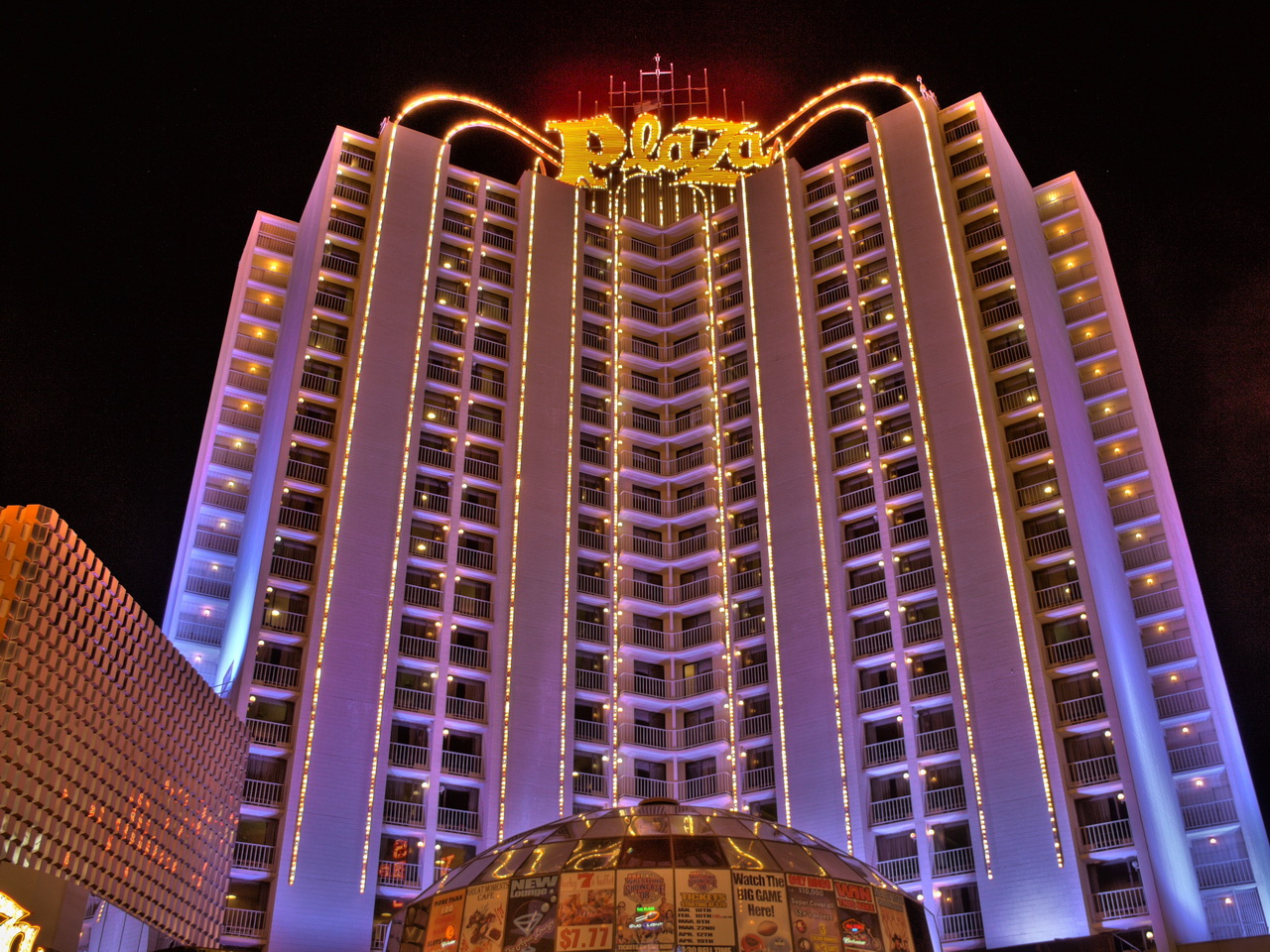 Plaza Hotel and Casino in Downtown Las Vegas.
