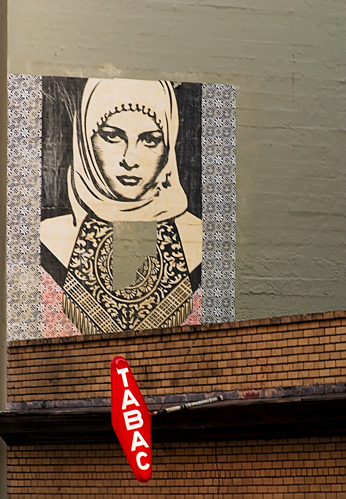 Hijab Mural on Bush St