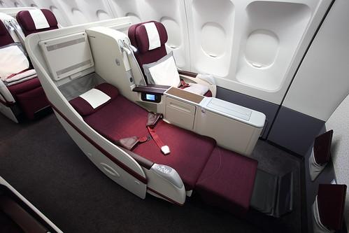 Qatar Airways A330 Full Flat Business Class Seat