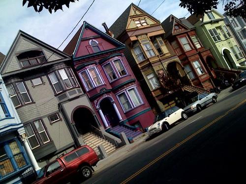rainbow houses.