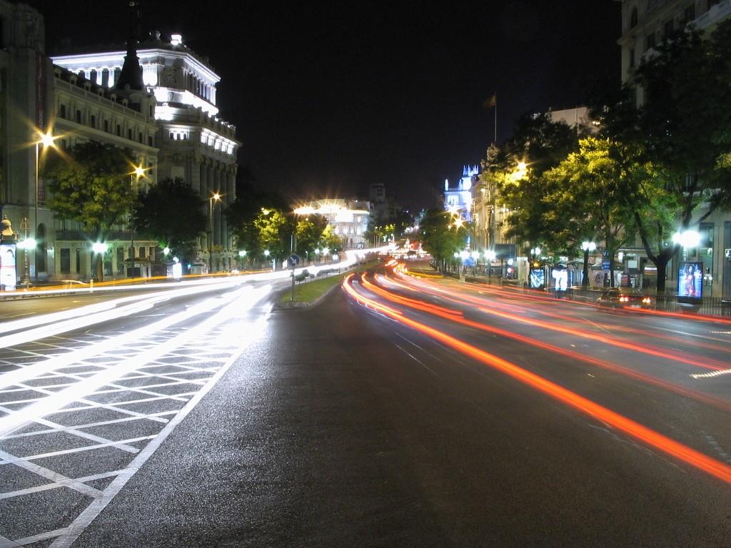 Entre el tráfico de Madrid