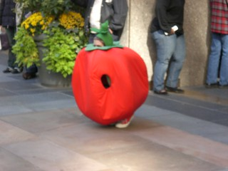 Blurry hiding tomato