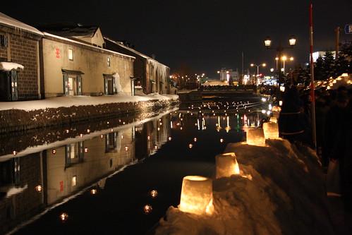 Otaru Snow Festival Canal