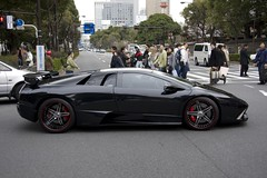 lamborghini reventã³n(0.0), automobile(1.0), wheel(1.0), vehicle(1.0), performance car(1.0), automotive design(1.0), land vehicle(1.0), luxury vehicle(1.0), lamborghini diablo(1.0), lamborghini murciã©lago(1.0), supercar(1.0), sports car(1.0),