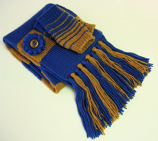 Ravenclaw Scarf Knitting Pattern : Ravenclaw Scarf and Wrist Warmers Flickr - Photo Sharing!