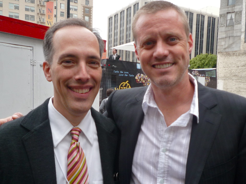 Steve Garfield and Ze Frank at Streamy Awards 2010