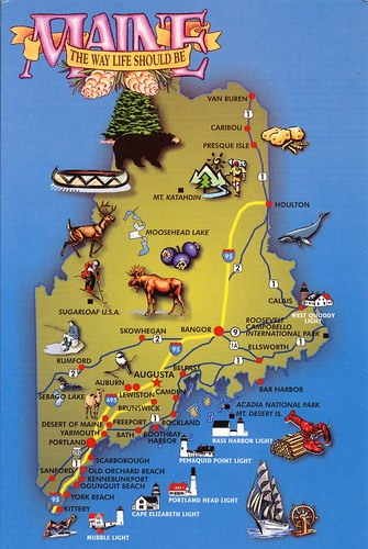 Maine State Report On Emaze - Maine state map