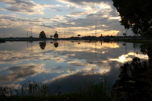 sunset reflection wow georgia pond fair ritual perry pagan october2007