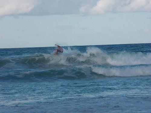 JP surfing Burleigh