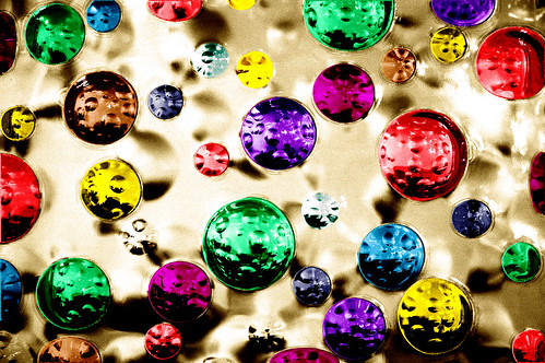 baubles on gold