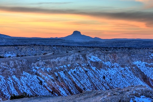 sunset sky snow newmexico clouds desert sunsets cabezon hdr ojito ojitowilderness
