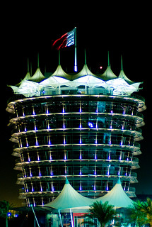 Tower at circuit in Bahrain