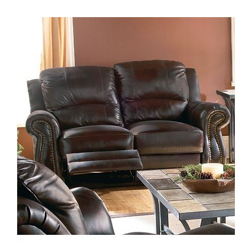 Broyhill Leather Reclining Loveseat