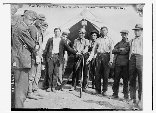 Penn. coal strike - in Atlantic camp showing guns of deputies  (LOC)