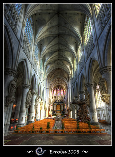 St Rombolds Cathedral interior, Mechelen - Belgium