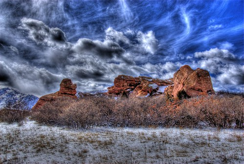 trees winter snow mountains nature clouds landscape colorado rocks denver redrocks geology hdr littleton photomatix southvalleypark mywinners 200803