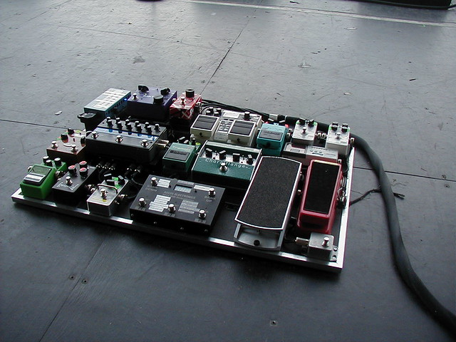 guitar pedal board for simple plan as deployed at the univ flickr. Black Bedroom Furniture Sets. Home Design Ideas
