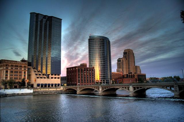 Grand Rapids Skyline Hdr
