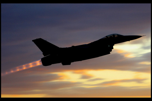 F-16 Brightening Up The Sunset