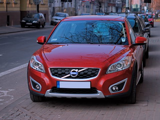 Red Volvo Automobile