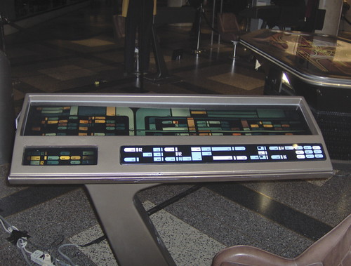 Star trek props free standing engineering console from enterprise e a photo on flickriver - Star trek online console ...