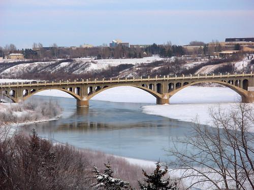 bridge landscape saskatoon