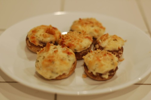Crab Dip Stuffed Mushrooms