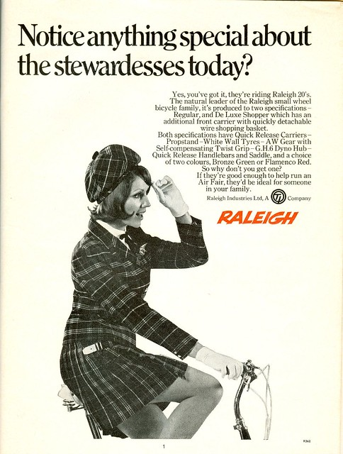 1969 Raleigh Cycles Advert Stewardess