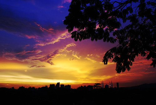 sunset sundown malaysia a200 sunsetting alluring selangor shahalam magrib sonydslr platinumphoto diamondclassphotographer ibnuyusuf cityofshahalam mysonia
