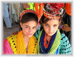 Kalash girls at Joshi festival