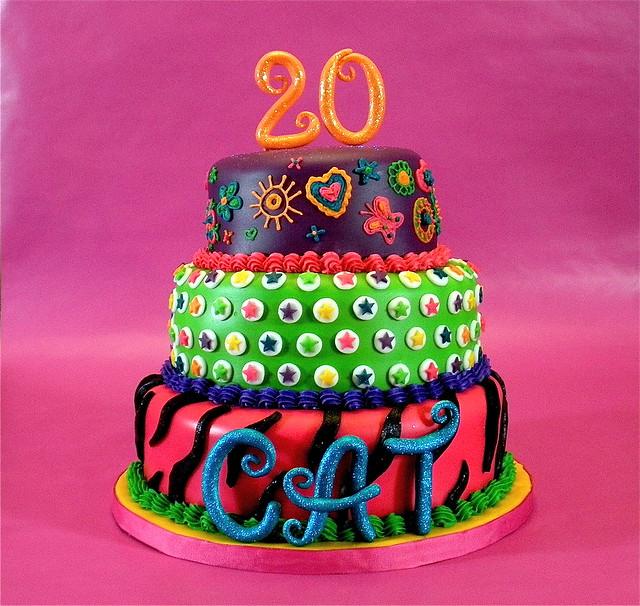 girly fondant cakes