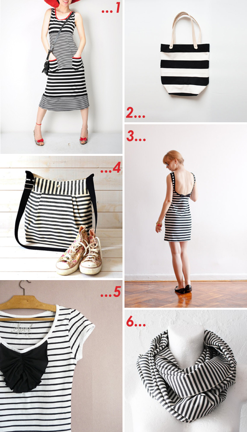 etsy favourites : black & white stripes | Emma Lamb