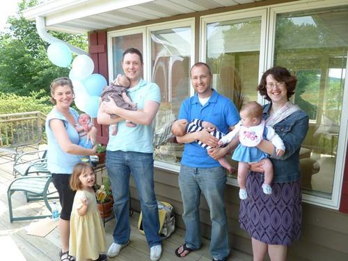 Rachel, Steve, Zach, Elizabeth, and babies!