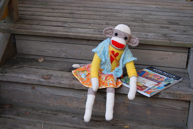 My friend the sockmonkey, sewn by iHanna #softies