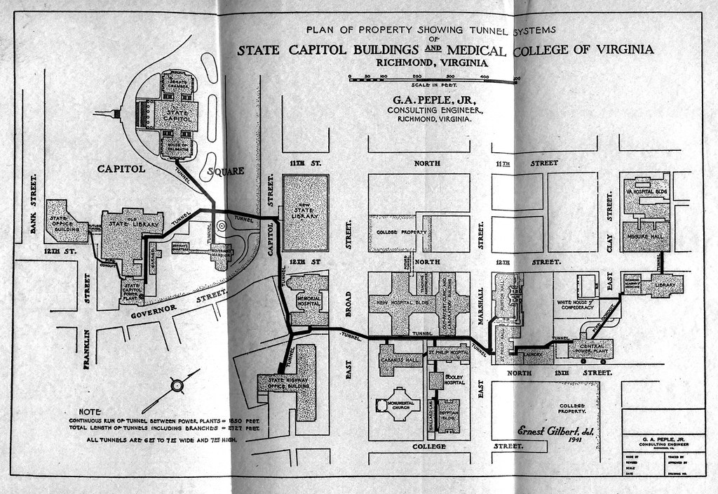 Richmond S Mcv Capitol Square Underground Tunnel System Map